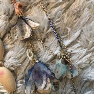 Anthropologie flower statement necklace bundle